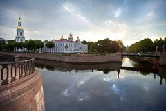St. Nicholas Naval Cathedral In St.Petersburg Stock Photos