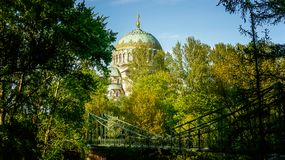 St Nicholas Naval Cathedral Kronstadt royaltyfri fotografi
