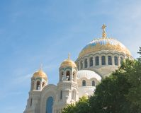 St. Nicholas Naval Cathedral, Kronstadt. Russia Stock Photos