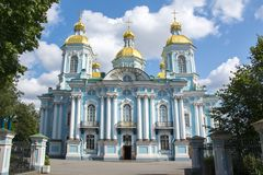 St. Nicholas Naval Cathedral Nikolsky Sobor, St Petersburg, Russland stockbild