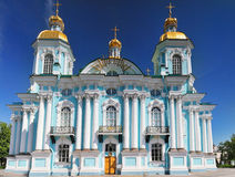St. Nicholas Naval Cathedral . St. Petersburg Stock Images