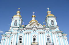 St. Nicholas Naval Cathedral, St. Petersburg. Stock Photos