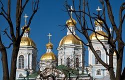 St. Nicholas Naval Cathedral in St Petersburg Lizenzfreie Stockfotos