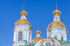 St. Nicholas Naval Cathedral, St.Petersburg Stock Photos