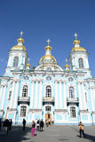 St. Nicholas Naval Cathedral, St. Petersburg. Royalty Free Stock Image