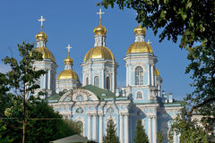St. Nicholas Naval Cathedral, St Petersburg, Russland Stockfoto