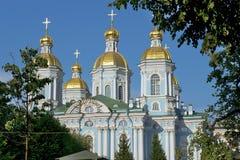 St Nicholas Naval Cathedral, St Petersburg, Ryssland Arkivfoto