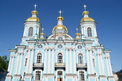 St. Nicholas Naval Cathedral, St. Petersburg. Royalty Free Stock Photography