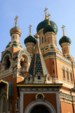 St. Nicholas Orthodox Cathedral, Nice. The St. Nicholas Orthodox Cathedral, Russian orthodox church, Nice, France Royalty Free Stock Photos