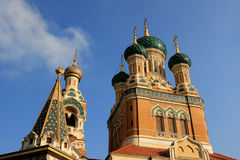 St. Nicholas Orthodox Cathedral, Nice. The St. Nicholas Orthodox Cathedral, Russian orthodox church, Nice, France Stock Photo