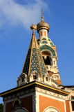 St. Nicholas Orthodox Cathedral, Nice. The St  Nicholas Orthodox Cathedral, Russian orthodox church, Nice, France Royalty Free Stock Photo