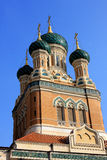 St. Nicholas Orthodox Cathedral, Nice. The St  Nicholas Orthodox Cathedral, Russian orthodox church, Nice, France Stock Image