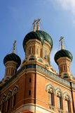 St. Nicholas Orthodox Cathedral, Nice. The St. Nicholas Orthodox Cathedral, Russian orthodox church, Nice, France Royalty Free Stock Photo