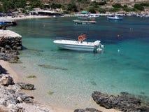 St Nicholas Port, Zakythos-eiland, Griekenland stock foto