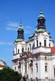 st nicholas prague церков исторический стоковые изображения