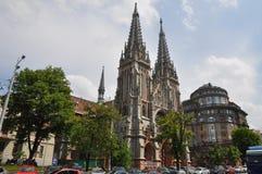 St Nicholas Roman Catholic Cathedral, Kiev À l'heure actuelle - est la Chambre nationale de la musique d'organe et de chambre de  photos stock