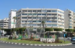 St Nicholas rondo w Limassol, Cypr zdjęcie royalty free