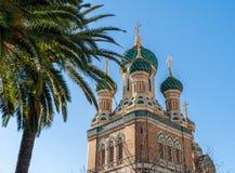 St Nicholas Russian Orthodox Cathedral, agradável - França fotografia de stock royalty free