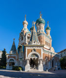 St Nicholas Russian Orthodox Cathedral in Nice Stock Image