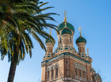 St Nicholas Russian Orthodox Cathedral, Nice - France. St Nicholas Russian Orthodox Cathedral in Nice - France Royalty Free Stock Photography