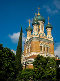 St Nicholas Russian Orthodox Cathedral in Nice. France Royalty Free Stock Photos