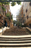 St Nicholas schodki Gemmayzeh, Liban, - Zdjęcie Stock
