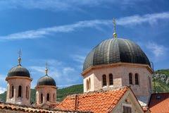 St Nicholas Serbian Orthodox Church em Kotor fotografia de stock