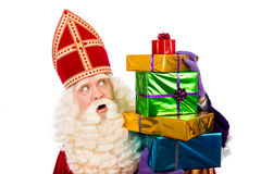St.Nicholas showing  gifts Royalty Free Stock Photography