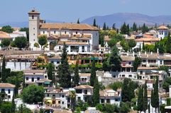 St Nicholas square (mirador San Nicolas) and the Albaicin, Granada Stock Photography