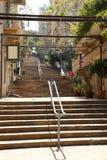 St Nicholas Stairs, Gemmayzeh - Líbano Fotografía de archivo