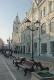 St Nicholas Street en Moscú Fotos de archivo