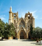 St.Nicholas Kathedraal omgezet in Pasha van Lala Mustafa moskee Stock Afbeelding