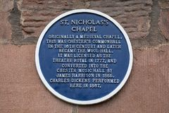 St Nicholass Kapel in Chester royalty-vrije stock afbeelding