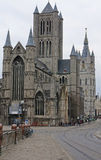 St nicolas church and belfry in Ghent, belgium Stock Image