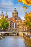 St. Nicolas Church i Amsterdam Arkivbild