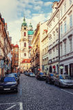 St. Nicolas Church in Mala Strana district of Prague Royalty Free Stock Photography