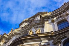 St. Nicolas Church in Mala Strana district of Prague. Czech Republic Royalty Free Stock Images