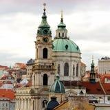 St. Nicolas Church, Mala Strana, Prague Stock Photo