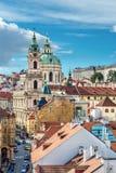 St. Nicolas church in Prague Stock Photo