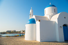 St. Nicolas Church. Protaras, Cyprus Stock Images