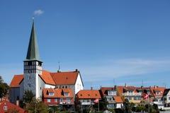 St Nicolas Church, Rønne - Sct. Nicolai Kirke. Bornholm Images libres de droits