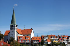 St Nicolas Church, Rønne - Sct. Nicolai Kirke. Bornholms Royalty-vrije Stock Afbeeldingen