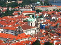St. Nicolas church's bird's eye view Prague Stock Photography