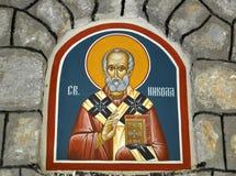 St. Nicolas-Fresko stockfoto