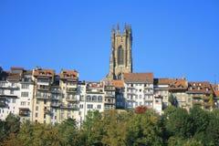 St. Nicolas, Fribourg Foto de Stock