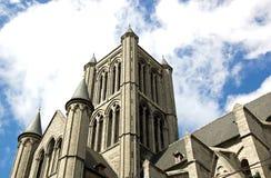 St Nicolas kerk Gent royalty-vrije stock afbeeldingen