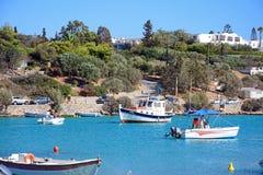 St Nicolas zatoka, Agios Nikolaos Fotografia Stock
