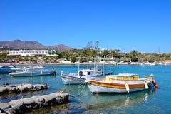St Nicolas zatoka, Agios Nikolaos Fotografia Royalty Free