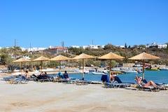 St Nicolas zatoki plaża, Agios Nikolaos Fotografia Royalty Free