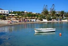 St Nicolas zatoki plaża, Agios Nikolaos Fotografia Stock
